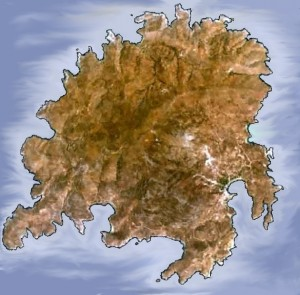 Satellite view of Serifos